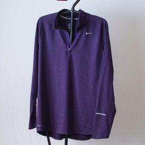 Nike Plum Set Running Tee/Pullover Size Large